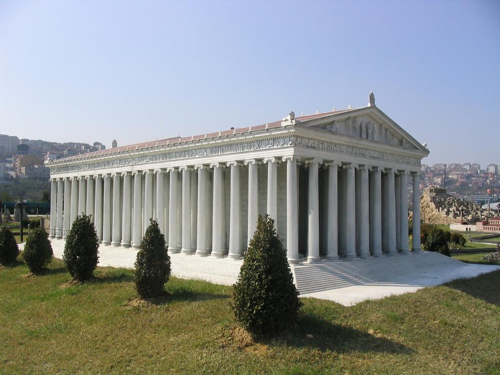 Ephesus, model of Artemis temple (Miniaturk, Istanbul)