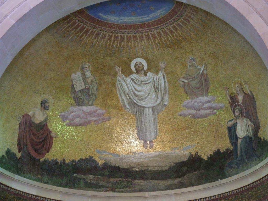 Mt Tabor mosaic of Transfiguration