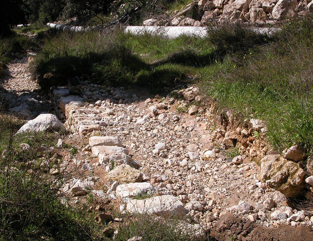 Roman road to Moza (NT Emmaus?)