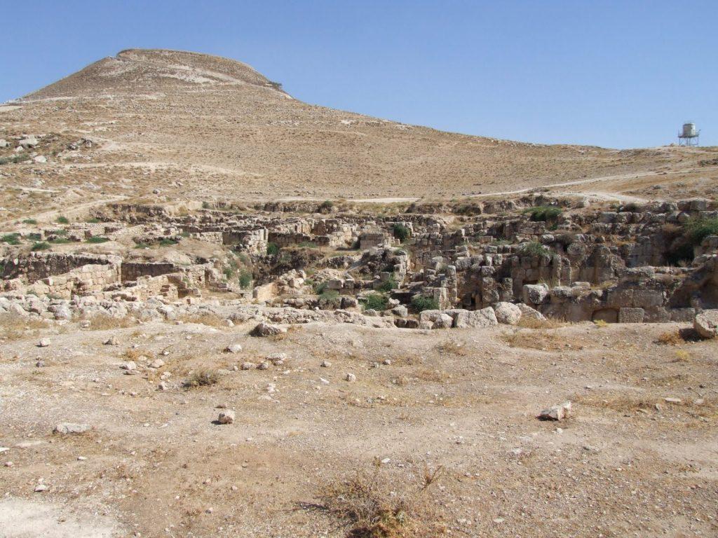 Herodion, from below