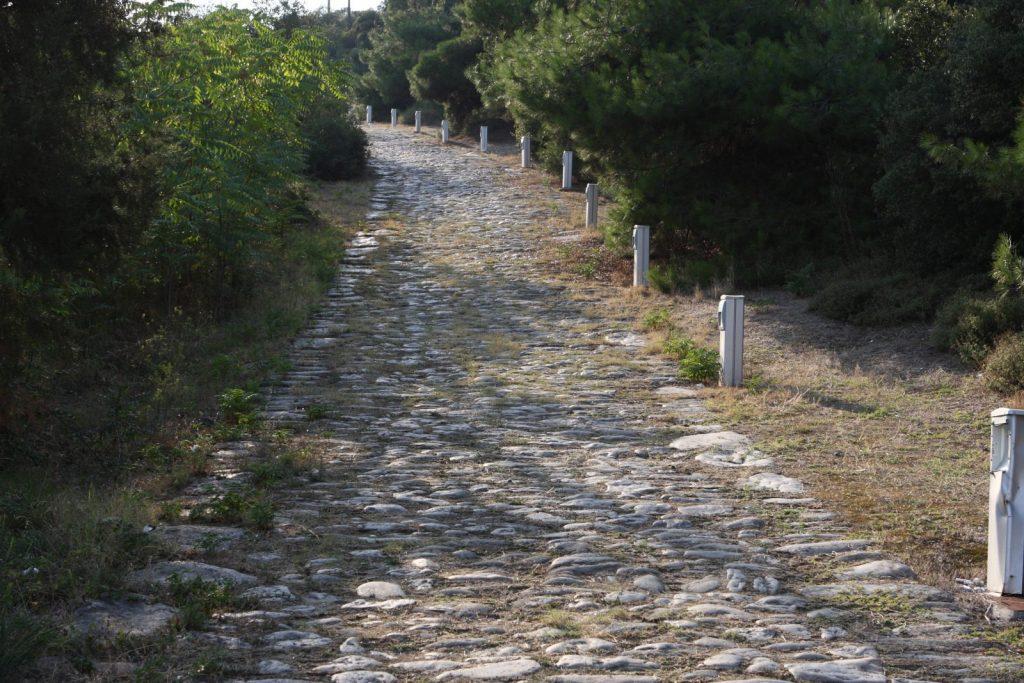 Kavala, Roman road to Philippi (the Via Egnatia).
