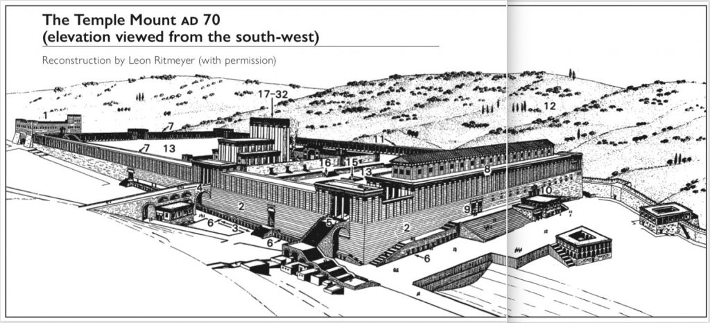 The Temple Mount AD 70 (elevation viewed from the south-west)